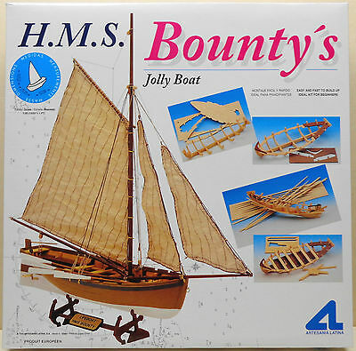 Artesania Latina HMS Bounty's Jolly Boat Kit, 1/25 Scale, Kit #19004 New in Box