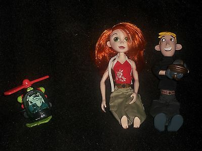Kim Possible Action Figure Lot,  KIM POSSIBLE & Ron Stoppable,  Rufus Dolls