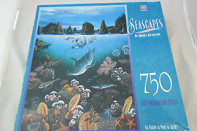 """Jigsaw Puzzle  750 Piece Robert Nelson """"Seascapes"""";  Sealed New"""