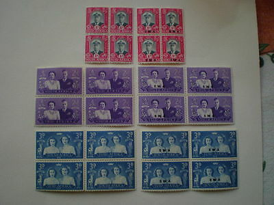 South Africa South West Africa mint George VI royal visit sets blocks of four