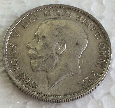 GEORGE V 1919 Silver First Coinage Half Crown .925 Sterling Silver