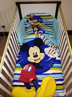Disney Mickey & pluto Bedding Set for Cot or Cotbed