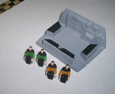 star trek runabout 1/72 scale bridge and crew for model kit