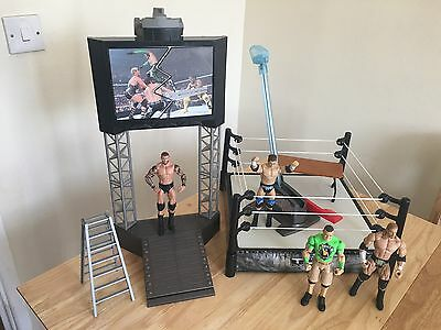 WWE - Mattel - Flexforce High Flyin' Fury Playset + Figures, Table & Chair