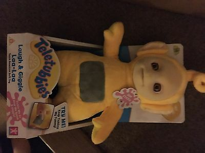 NEW TELETUBBIES LAUGH & GIGGLE LAA-LAA TICKLE TALKING CUDDLY PLUSH TOY 30cm LALA