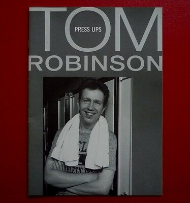 """TOM ROBINSON - """"Press Ups"""" - A 24 page Press Release book of clippings, etc."""