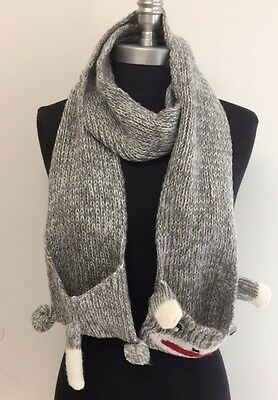 New Kids Winter Soft Warm Knitted Scarf Wrap with Cartoon pocket Lovely