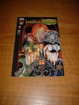 Lady Death / Medieval Witchblade 1. Aug 2001. Nm- Cond.  Chaos/top Cow