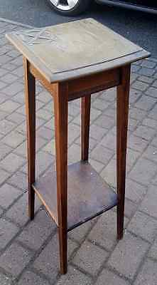 Vintage 2 tier tall carved plant stand, shabby chic?