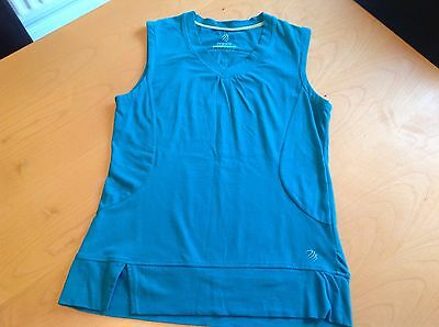 MPG Ladies Women's Sports Top -  T Shirt - Size S - Turquoise - V Neck