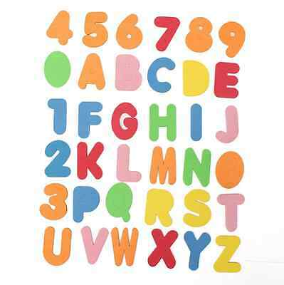 36PCs Alphanumeric Letters Bath Puzzle Soft EVA Numbers Kids Baby Toys New Early