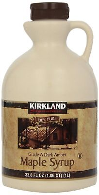 Canadian Maple Syrup Kirkland 100% Pure Grade A - 1 Litre - Amber