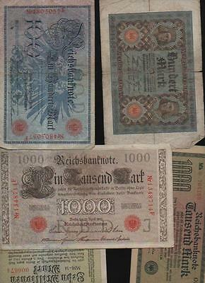 (a61644)   Reichsbankdirektorium 100 Mark 1908, 1000 Ma