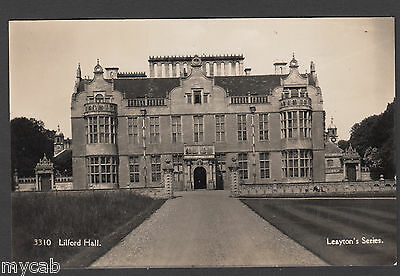Postcard Lilford Hall near Oundle Northamptonshire old RP by Leayton's Series
