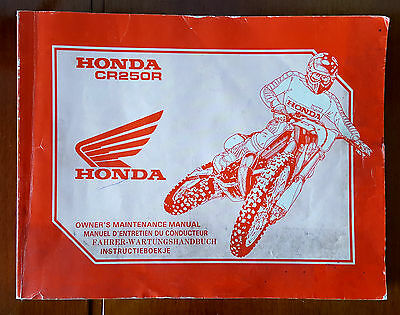 Manuale Honda Cr250R 1990 Owner's Maintenance Manual.......