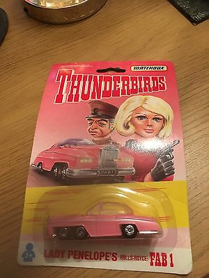Thunderbirds Lady Penelope Fab 1 Rolls Royce Matchbox Toy