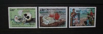 LAOS 1993 Anti-drugs Campaign. Set of 3. Mint Never Hinged. SG1349/1351.