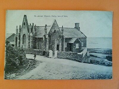 Early Vintage Girls At St James Church Dalby Isle Of Man Niarbyl Manx Iom