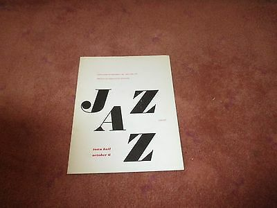 """Early 1960""""s Jazz Concert Program New York Bill Taylor Wes Montgomery"""