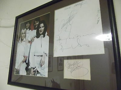 Mamma Mia ABBA all four members hand signed mount
