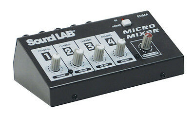 SOUNDLAB G105AA - 4 Channel Mono Microphone Mixer *** NEW ***