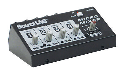 SOUNDLAB - 4 Channel Mono Microphone Mixer G105AA *** NEW ***