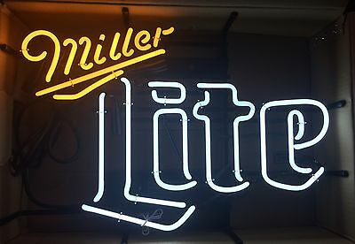 "Miller Lite Retro 23x17"" Neon Beer Sign - Brand New In Box"