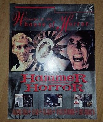 Hammer House Of Horror Full Page Magazine Press Advert/mini Poster Mag Ad