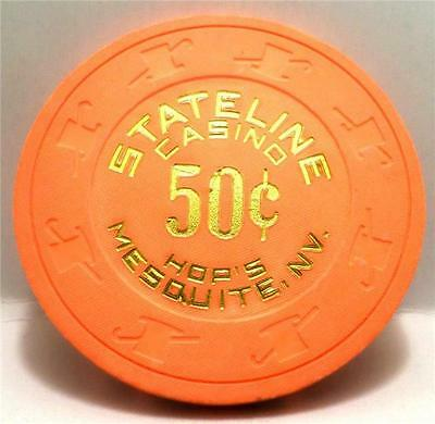 STATELINE casino hotel *Hop's Mesquite NV  $.050 chip*1 Price Fast Shipping #26