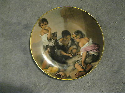 """12 """" Bavaria Waldersolf Germany Collector Plate - Picture Of 3 Children Eating"""