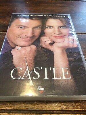 Castle: The Complete Eighth Season (DVD, 2016, 5-Disc Set) Mint.!!!