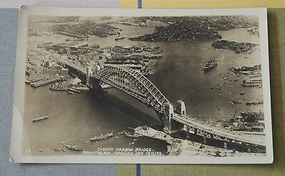 Real Photo Sydney Harbour Bridge From The Air Opening Day 1932 #15
