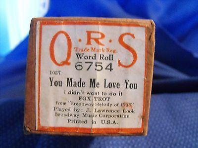 YOU MADE ME LOVE YOU (I DIDN'T WANT TO DO IT) - QRS roll  Excellent condition