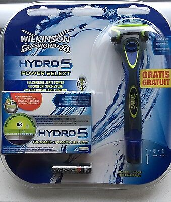 Wilkinson  Sword Hydro5 Power Select 5x Rasierklingen +  Rasierer Neu/OVP