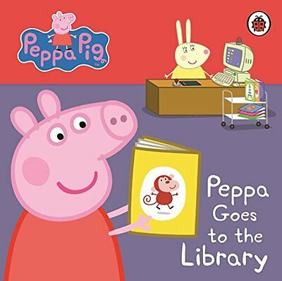 Peppa Pig: My First Storybook Peppa Goes to the Library, Ladybird | Board book B
