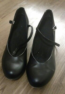 black character shoes with genuine leather sole balance, 9.5