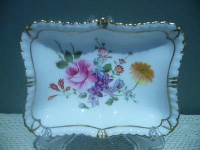 Royal Crown Derby 'derby Posies' Rectangle Butter / Relish Dish - England - Vgc