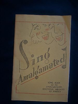 Song Book of Amalgamated Clothing Workers of America Trade Union Memorabilia