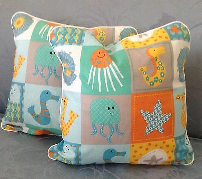 "Set of two Childrens Pillows 14"" (inserts included)"