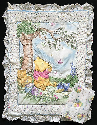 Disney Classic Pooh Baby Crib Bedding Comforter & Fitted Sheet Set Red Calliope