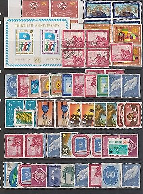 The United Nation  Mnh Stamps , Fdc  In Pages .