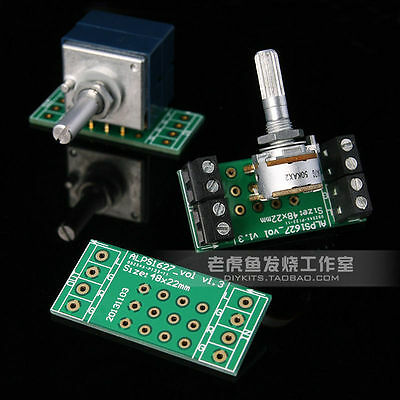 2pcs ALPS RK16 RK27 Potentiometer PCB Board Gold Plated Great Quantity!