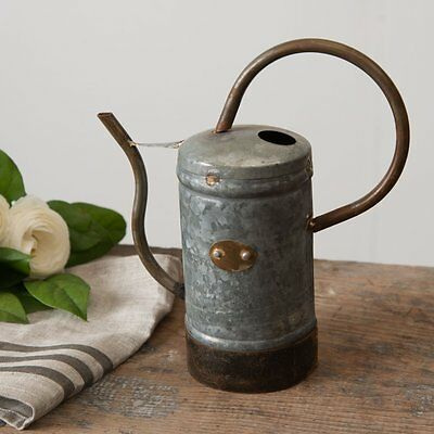 PETITE GALVANIZED WATERING CAN~Southern Charm Farmhouse Decor