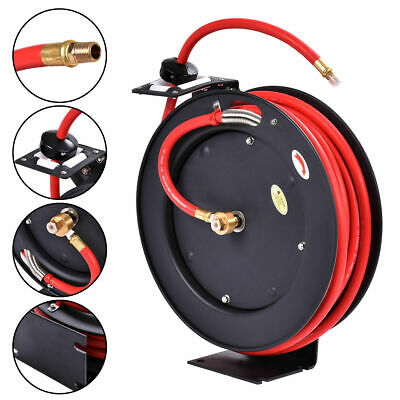 "3/8"" x 25' Auto Rewind Retractable Air Hose Reel Compressor 300 PSI New"