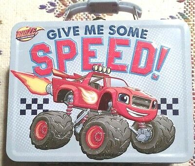 Blaze and the Monster Machines Give Me Some Speed Lunch/Gift Box.Tin Box Co.NWT