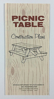 VTG Michigan Travel Brochure - Picnic Table Construction Plans, State Highways