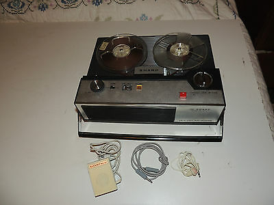 Sharp RD-504 Solid State Tape Recorder. Reel To Reel Solid State WORKING!!