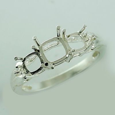 Cushion Shape Ring In Semi Mount 5.00 MM 925 Sterling Silver Fashion Top Jewelry
