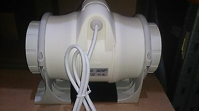 2 Speed inline fan 100mm, 125mm, and 200mm available