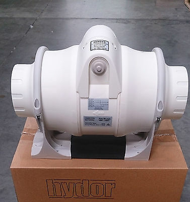 Inline fan with run on timer 100mm, 125mm, 150mm and 200mm available
